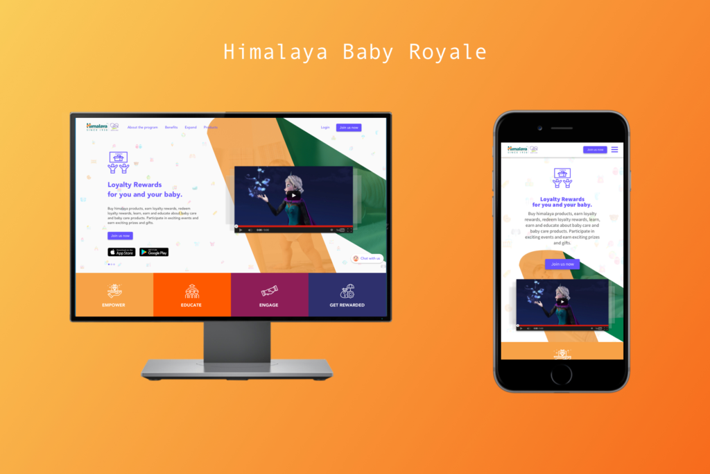 Himalaya baby royale rewards program. Designer for rewards program.